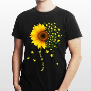 Sunflower Cannabis Weed Leaf Lover Marijuana shirt