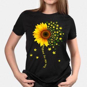 Sunflower Cannabis Weed Leaf Lover Marijuana shirt