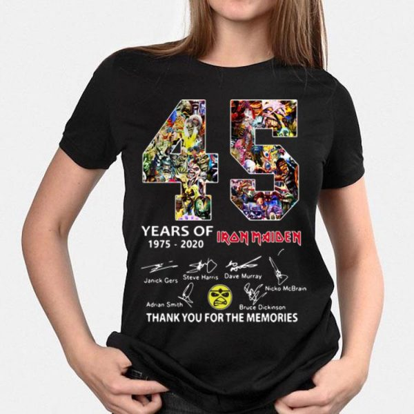 Thank You The Memories 45 Years Of Iron Maiden Signatures shirt