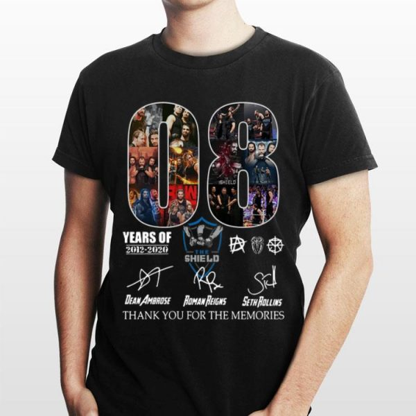 The Shield Thank You For The Memories 08 Years Signatures shirt