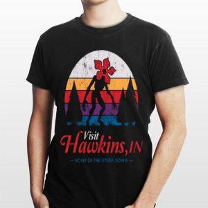 Visit Hawkins In Home Of The Upside Down Demogorgon Vintage shirt