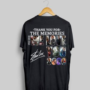 We Love You 3000 Stan Lee Thank You For The Memories 1922-2018 shirt