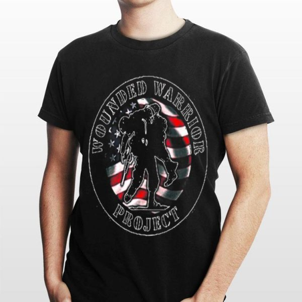 Wounded Warrior No One Left Behind American Flag shirt