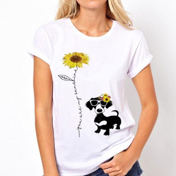You Are My Sunshine Sunflower Dachshund shirt