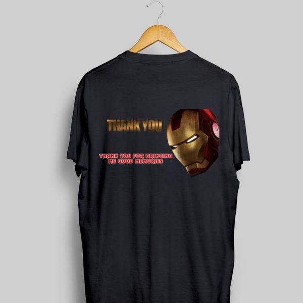 Iron Man Thank You For Bringing Me Good Memories shirt