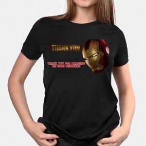 Iron Man Thank You For Bringing Me Good Memories shirt 1