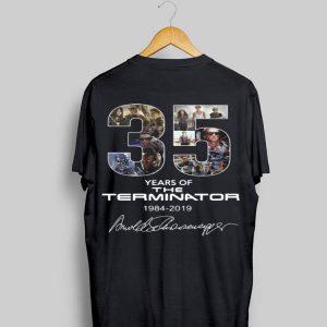 35 Years Of The Terminator 1984-2019 Signatures shirt