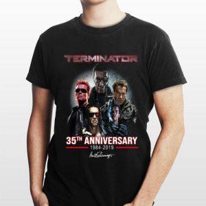 35th Anniversary Terminator 1984 2019 Signature shirt