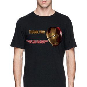 Iron Man Thank You For Bringing Me Good Memories shirt 2