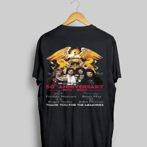 50th Anniversary 1970-2020 Queen Thank You For The Memories Signatures shirt