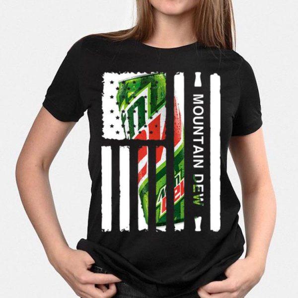 American Flag Mountain Dew shirt