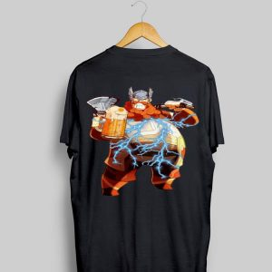 Avengers Endgame And Beer Fat Thor shirt