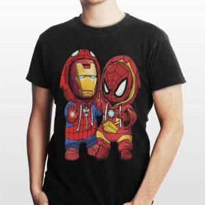 Baby Iron Man And Spider Man Marvel shirt