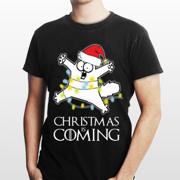 Christmas Is Coming Simon's Cat Game Of Thrones shirt