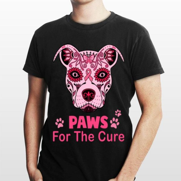 Dog Paws for the cure Breast Cancer Awareness shirt