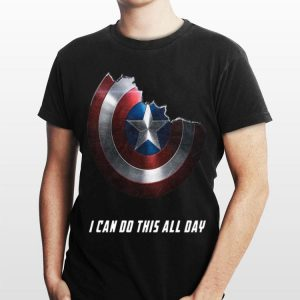 I Can Do This All Day Captain America shield shirt