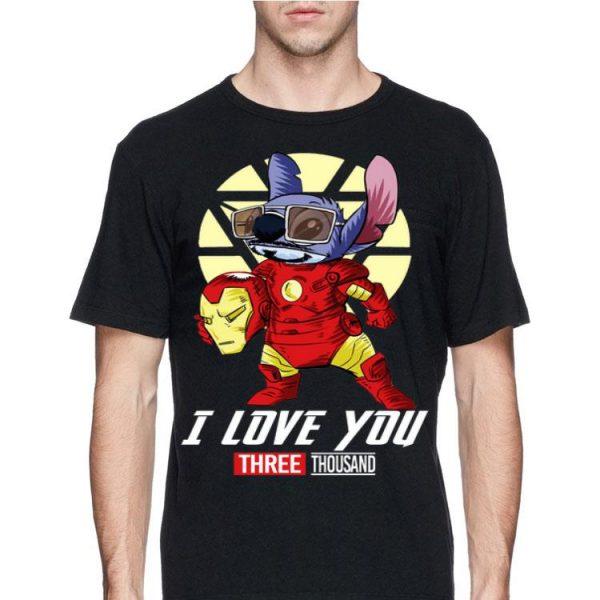 I Love You Three Thousand Avengers Iron Man Stitch shirt