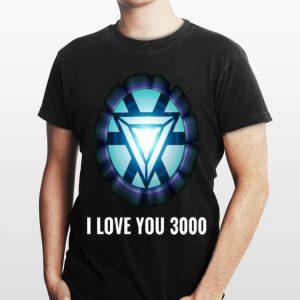 Iron Man Tony Stark I love you 3000 Energy Arc Reactor shirt
