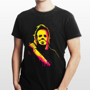 Michael Myers With Knife Color Halloween shirt