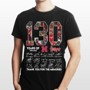 N Huskers 130 years of 1890-2020 Signatures shirt