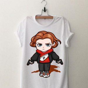 Nike Black Widow Avengers Chibi shirt