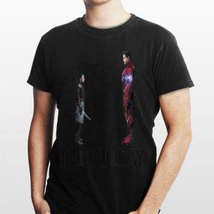 Not Today Game Of Thrones Arya Stark And Tony Stark Iron Man shirt