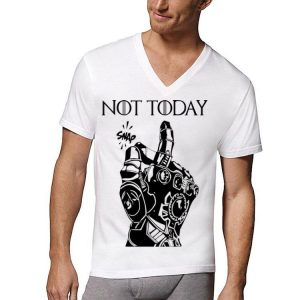 Not Today Game Of Thrones Iron Man Snap shirt