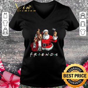 Official Friends Jesus and Santa Claus selfie shirt 1