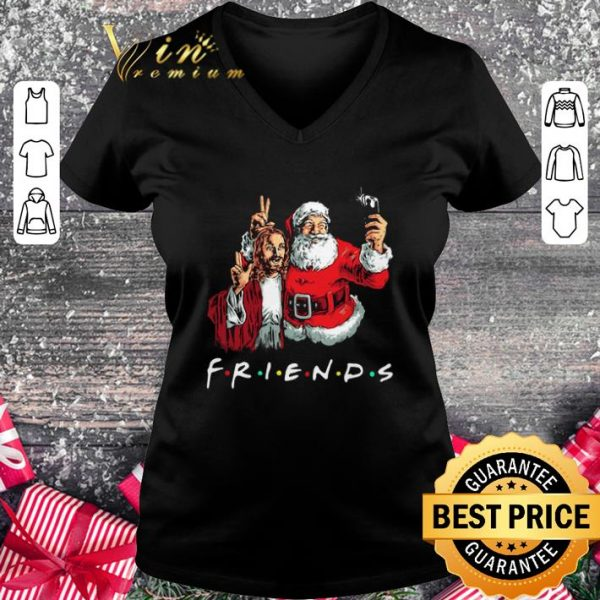 Official Friends Jesus and Santa Claus selfie shirt