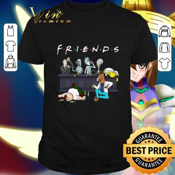 Official Friends Sterling Archer Bender Rick Roger Homer Simpson Bojack Horseman Peter Griffin shirt