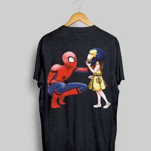 Peter Parker Spiderman And Morgan Stark shirt
