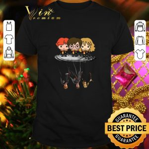 Pretty Harry Potter chibi reflection water mirror Ron and Hermione shirt