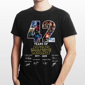Star Wars 42 Years 1977-2019 signatures shirt