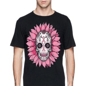 Sunflower Breast Cancer Awareness Sugar Skull shirt