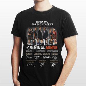 Thank You For The Memories Criminal Minds 2005-2019 15 Seasons 314 Episodes Signatures shirt