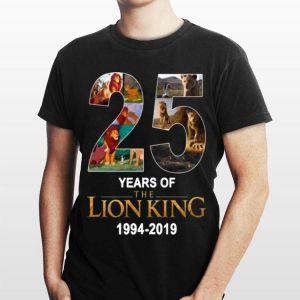 The Lion King 25 Years 1994-2019 shirt