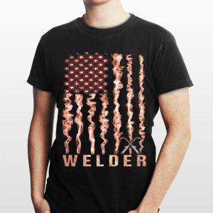 Welder American flag shirt