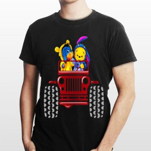 Winnie The Pooh Tiger And Eeyore Jeep shirt