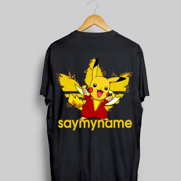 Adidas Say My Name Shazam Pikachu shirt