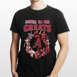 Arizona Diamondbacks all time great players signatures shirt