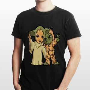 Baby Yoda and Groot Mashup shirt