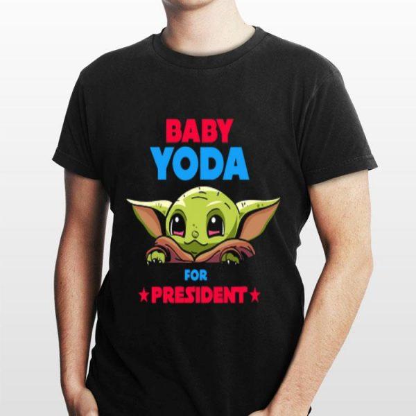 Baby Yoda for president Star war sweater