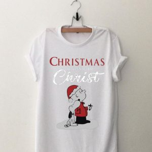Christmas Begins With Christ Snoopy And Charlie Brown shirt