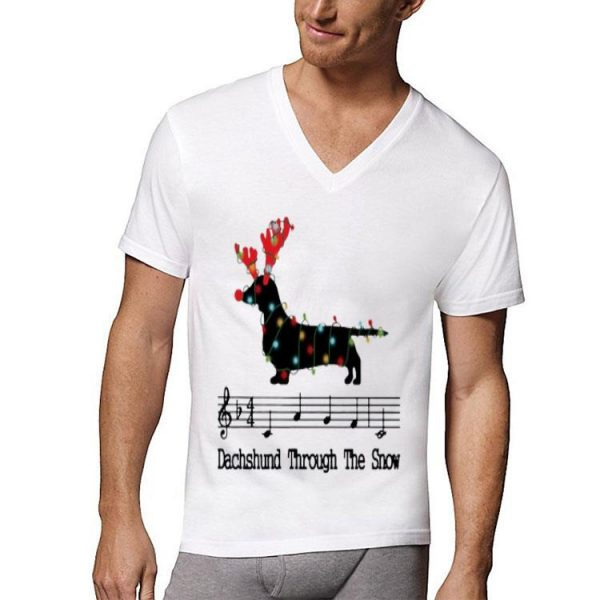 Dachshund through the Snow Music Christmas shirt