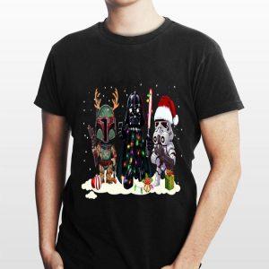 Darth Vader R2D2 Boba Fett Chibi Christmas shirt