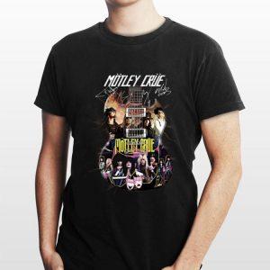 Electric Guitar Motley Crue signatures shirt