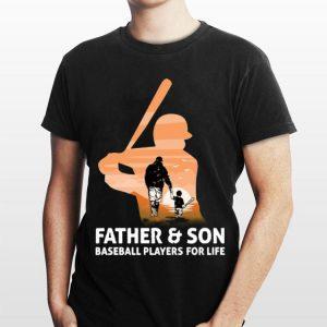 Father & son Baseball players for life shirt