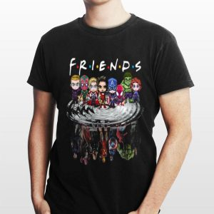 Friends Avengers Chibi characters water reflection shirt