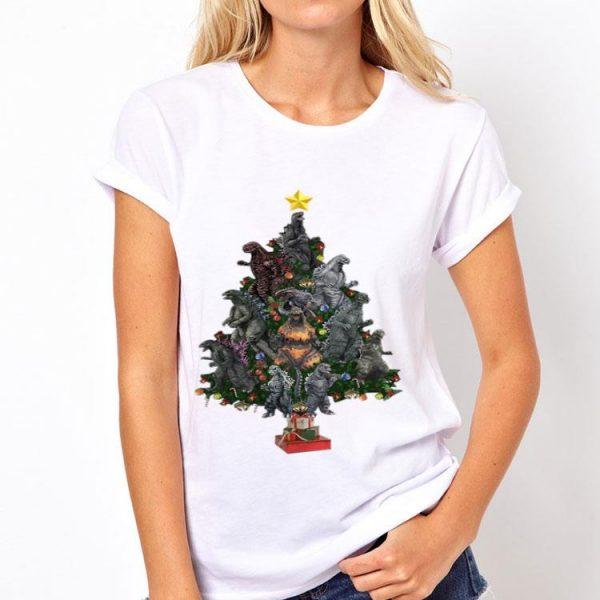 Godzilla Christmas Tree shirt