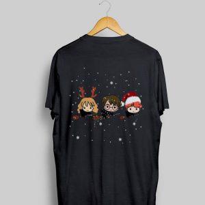 Harry Potter chibi riding a broom Christmas shirt
